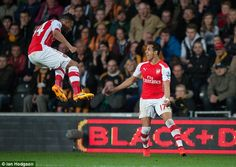 Chilean forward Alexis Sanchez scored twice as Arsenal beat Hull City 3-1 at the KC Stadium on Monday night