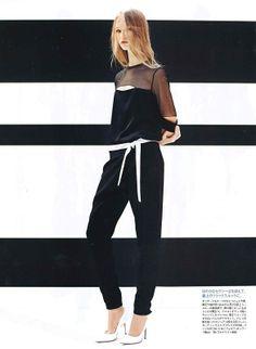 MADAME FIGARO Japan May 2014  http://www.joseph-fashion.com/en/ecomuk/blouses/crepe-stretch-satin-alex-blouse/invt/s4155094526