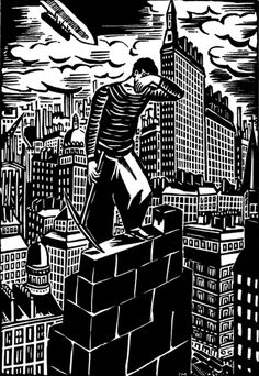 Is Frans Masereel's The City the First Graphic Novel?Eye on Design Woodcut Art, Graphic Novel Art, Scratchboard, Wood Engraving, Illustrations, Woodblock Print, Printmaking, Book Art, Art Drawings