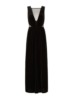MANGO - Long velvet dress