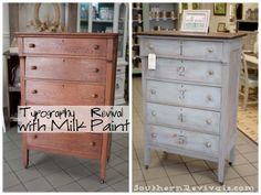 Furniture Feature Friday – Favorites & a Link Party. Miss Mustard Seed Shutter Gray milk paint.