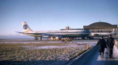 I traveled from New York to Keflavik, Iceland  on a plane like this in March, 1964 for my one year tour.