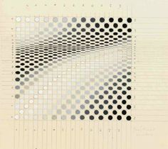Bridget Riley (b. 1931)   Untitled, 1964  gouache and pencil on paper   187/8 x 117/8in. (48 x 29cm.)