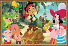jake and the neverland pirates POSTER kids room disney jr PERSONALIZE FREE