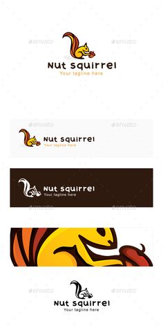 Nut Squirrel Logo Template — Vector EPS #kids #icon • Available here → https://graphicriver.net/item/nut-squirrel-logo-template/13966840?ref=pxcr