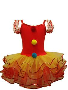 Toddler or Girls Clown Costume : Ballerina Clown Tutu Dress - Kids Costumes Dumbo Costume, Girl Clown Costume, Clown Dress, Circus Costume, Tutu Costumes, Halloween Costumes, Circus Clown, Costume Ideas, Birthday Party Outfits