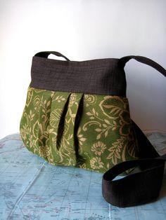 Perfectly pleasant--pleated crossbody purse. $48.00, via Etsy.
