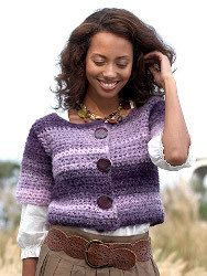 Modern Purple-Striped Cardigan   AllFreeCrochet.com