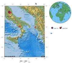 24 aardbevingen (groot en klein) in Italië laatste 73 uur, waarvan eentje M6,5: sterkste sinds 1980