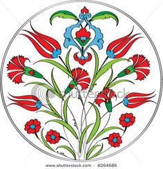 Ottoman tulip and carnation motif