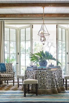 Swing Porch - The 2019 Southern Living Idea House - Beach house decor.Swing Porch - The 2019 Southern Living Idea House - Beach house decor. Love the bedswing from the Original Charleston swing Company, Zuri decking - lo. Southern Living Magazine, Southern Living Homes, Southern Cottage, Southern Style, Coastal Living, Southern Girls, Home Design, Interior Design, Interior Doors