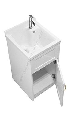 Sink Alexander 18 White Utility Modern Mop Slop Tub Deep Ceramic Laundry