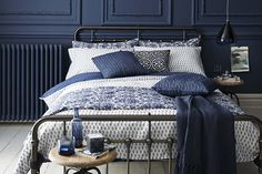 #sainsburys #autumndreamhome Check out our new Indigo range - all chic blue and white patterns for a mix-and-match look.