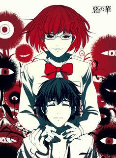 Aku No Hana - one of my favourite manga, one of my least favourite anime. Manga Drawing, Manga Art, Manga Anime, Anime Art, Manhwa, Ero Guro, The Flowers Of Evil, Anime Flower, Manga Poses