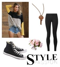 """""""Just hang in out"""" by kate2157 ❤ liked on Polyvore featuring The Giving Keys, Converse and The Row"""