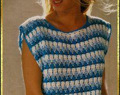 crochet pattern lace blouse summer sweater by 1stClassFromThePast