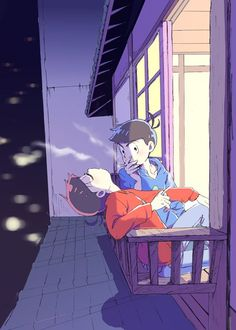 Osomatsu-san- Osomatsu and Karamatsu Hot Anime Guys, Anime Love, Sans Art, Try Your Best, Howls Moving Castle, Ichimatsu, Kingdom Hearts, South Park, Naive