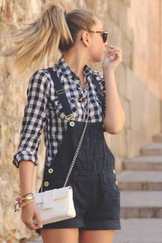 I want denim overals and check shirt!