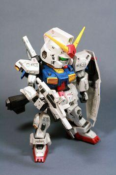 SD RX-178 Gundam Mk-II Papercraft by Nausica774 14
