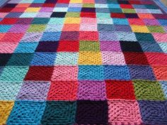 Attic 24 Granny Squares and join as you go method