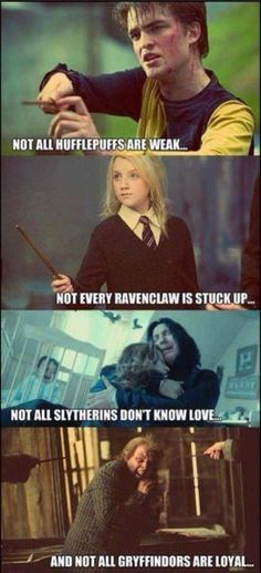 Funny pictures about Harry Potter and its characters. Oh, and cool pics about Harry Potter and its characters. Also, Harry Potter and its characters. Harry Potter World, Mundo Harry Potter, Harry Potter Fandom, Funny Harry Potter Quotes, Harry Potter Houses Traits, Harry Potter Hufflepuff Characters, Luna From Harry Potter, Harry Potter Friendship Quotes, Harry Potter Humour