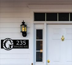 Beautiful Custom Metal Monogram Address Sign! Free Shipping on orders over $35! This Modern Monogram sign comes in three different designs, one to create a hanging address sign, another has metal rings that allow for a hanging address sign, and the basic includes holes for screwing your address sign onto a piece of wood or house siding. Want a different color? These signs come in black weatherproof, rustproof coating - ready for the outdoors, if you would like a different color please request it Monogram Letters Font, Monogram Signs, Pub Signs, Home Signs, Address Signs For Yard, Custom Bar Signs, House Siding, Outdoor Signs, Custom Metal