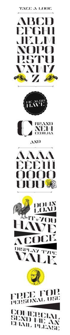 Display Type Valk Free font typeface
