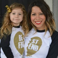 A must for me & my future daughter! Perfect for me and my princess Pre-Order Best Friends Black/Gold Baseball Raglan – Indie Nook My Baby Girl, My Little Girl, Baby Love, My Princess, Little Princess, Girl Outfits, Cute Outfits, Outfit Trends, Mom Daughter