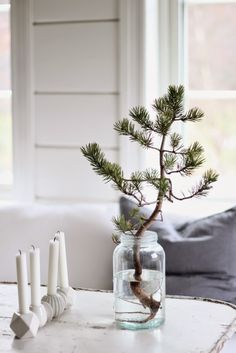 Christmas Decorations - my scandinavian home: A touch of Scandinavian Christmas decorating inspiration Mini Christmas Tree, Scandinavian Christmas, All Things Christmas, Simple Christmas, Winter Christmas, Christmas Home, Christmas Crafts, Rustic Christmas, Beautiful Christmas