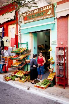 Fruit Shop in Vasiliki, Lefkada, Greece