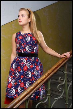 Poppy Blues  Classic Summer Dress /murMur vintage by murMurMarket, €30.00