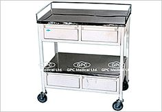 Hospital Drug Trolley: GPC Medical Ltd. - Exporters and manufacturers of Drug trolley from India. These drug trolleys are made by using stainless steel. Visit us for more detail http://www.gpc-medical.com/hospital_furniture_india/drug_trolley_india.htm