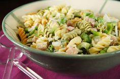 PASTA SALAD - Here is a tasty recipe for pasta salad that is healthy for those with diabetes too!