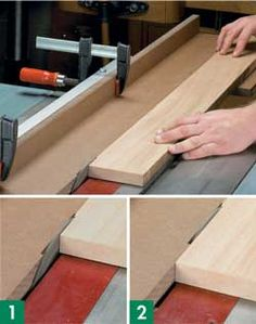 Woodworking Jigs 7 Table Saw Jointing Jig Plans: Straight Edge, No Jointer Woodworking Table Saw, Learn Woodworking, Woodworking Patterns, Woodworking Techniques, Woodworking Crafts, Woodworking Plans, Woodworking Furniture, Intarsia Woodworking, Woodworking Tutorials