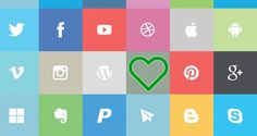 In this post we present big list of free flat social media icon set that perfect for your websites or can use it for your resources collections. Not to worry of spending money as all the icons incl… Top Social Media, Social Media Buttons, Network Icon, Brand Guidelines, Social Media Icons, App Icon, Icon Font, Creative Logo, Graphic Design Inspiration