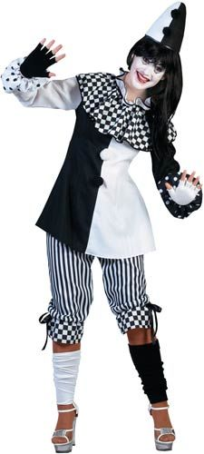 Deluxe Pierrot Pedrolina Clown Adult Costume