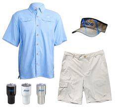 44332bfa20 Mr. Big Short Sleeve, Stretch Fit Performance Shorts, Finny Marlin Visor,  Mojo. Mojo Sportswear Company