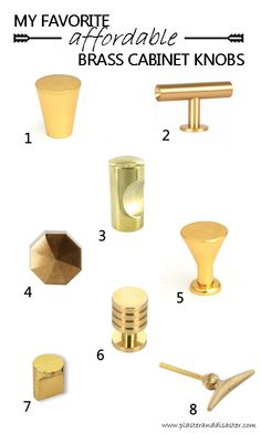 Top affordable brass cabinet knob choices - Plaster & Disaster