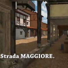 Reconstitution 3D de la ville de Bologne au Moyen Âge