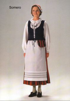 Somero, Finland Folk Costume, Costumes, Norway Viking, Folk Clothing, Traditional Dresses, Tunic Tops, Fancy, Clothes, Sweden