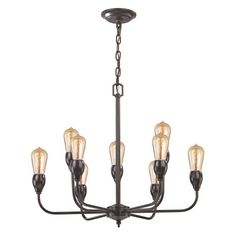 Elk Lighting Vernon 31983/6+3 Chandelier - 31983_6+3