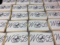 Monogram Wedding Cookies Wedding Cookies, Monogram Wedding, Bridal Showers, Custom Cakes, Special Events, Weddings, Create, Design, Personalized Cakes
