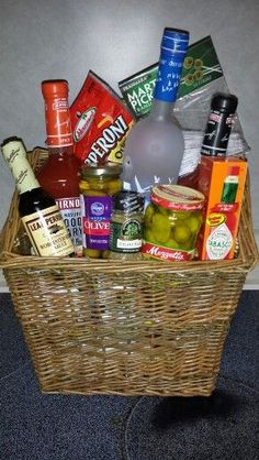 Silent Auction Basket Ideas Theme Baskets Bloody mary gift basket this