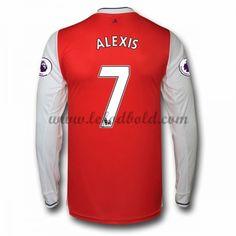 Billige Fodboldtrøjer Arsenal 2016-17 Alexis 7 Langærmet Hjemmebanetrøje