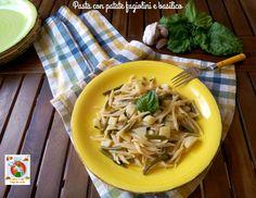 Pasta+con+patate+fagiolini+e+basilico