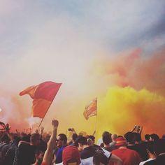 LAZIO 1 - ROMA 4 #landscape#love#heart#magic#calcio#soccer#football#supoorters#ultras#asr#red#yellow#and#pretty#cute#love#beautiful#fun#derby#italia#italy#rome#city#visit by michaelrebyc97asr
