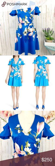 7597d74f325ba8 NWT TED BAKER Ambre Harmony Cold Shoulder Dress NWT TED BAKER Ambre Harmony  Cold Shoulder Dress