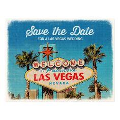 Save the Date for a Fabulous Las Vegas Wedding Postcard