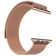 Pandawell Apple Watch Band, Milanese Loop Rose Gold Stainless Steel Replacement Watchband Strap Wrist Band with Adapter for 42mm Apple Watch