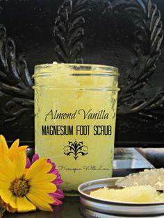 Homespun With Love: Healthy Living/ Almond Vanilla Magnesium Foot Scrub